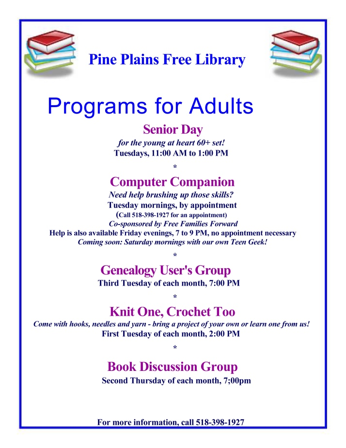 Library adult programs