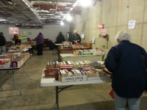 Patrons perusing our great collection of used books