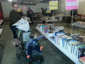 Our young folks enjoy the book sale too