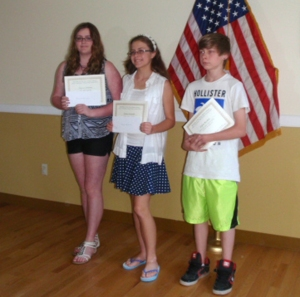 Hannah Benham, Emma Krasinski, Dylan Burdick - middle school poetry