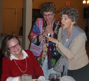 Jean O laughing it up with the 'suspect' sisters