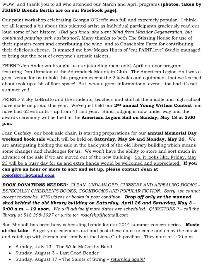 FRIENDS April 2014 newsletter-1