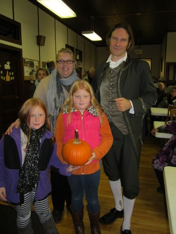 Andrea Cornelius, Shelby Cornelius and Margaret Hay enjoy a moment with Jonathan Kruk