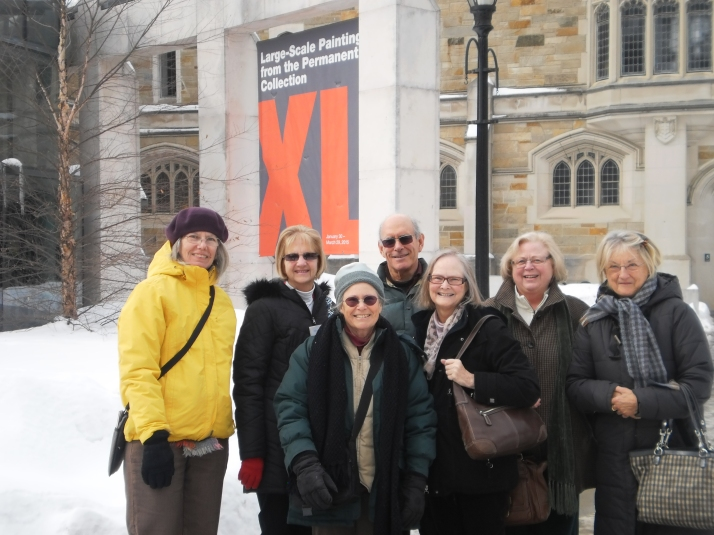 On March 3, 2015, FRIENDS visited the Frances Lehman Loeb Art Center at Vassar College to see a special exhibition of mural-sized paintings called XL. They had an excellent tour by a Vassar art major and had time to afterward browse in the museum's impressive permanent collection. XL is on view through March 29. Admission is free. (Photo by David Anderson).