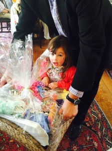 Ava Ramsden picks the winning ticket for our gift basket
