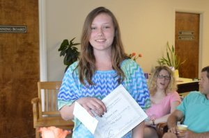 Juliana Losee 1st Place  Fiction Grades 6-8