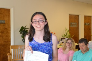 Sam Losee 1st Place Fiction Grade 9-12 and 3rd Place Poetry Grade 9-12