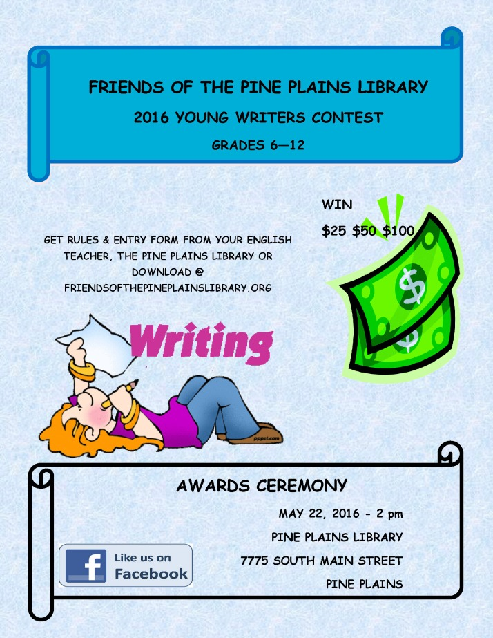 Young Writers Contest 2016 Poster