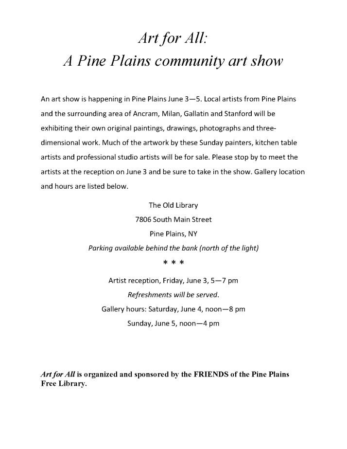 art show blurb for public