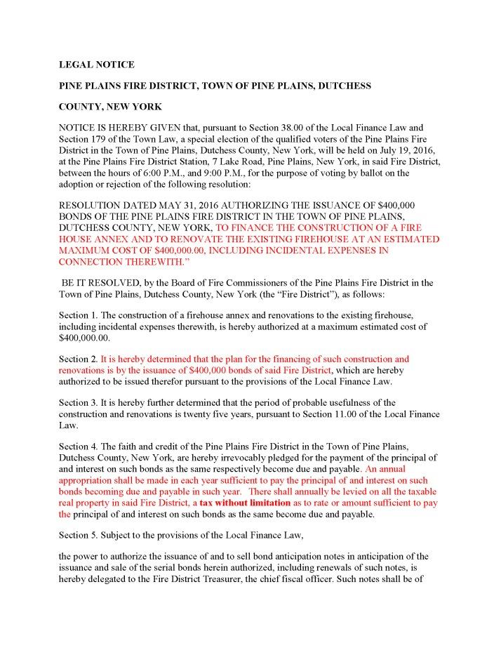 Fire District Bond Referendum Pine Plains (1)_Page_1