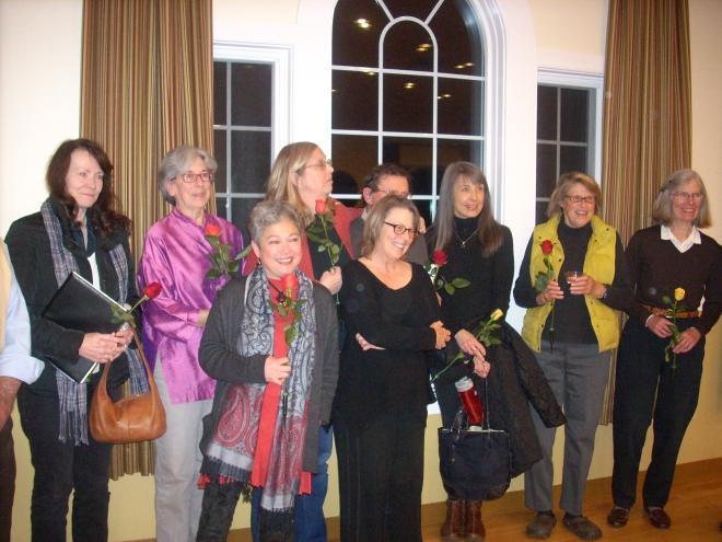(left to right back row) Mary Plover Smith, Esther Williams, Lisa Morris, Jay Cody, Lynda Wisdo, Jean Tate, Jen Anderson. (left to right bottom row) Maria Heng, Darrah Cloud.